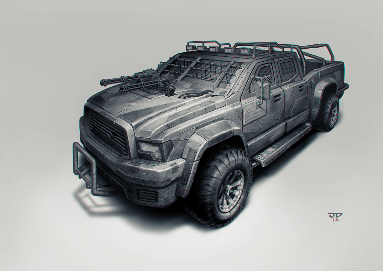 PickUp Concept | Unfinished project of postapocalyptical cars – JD ...